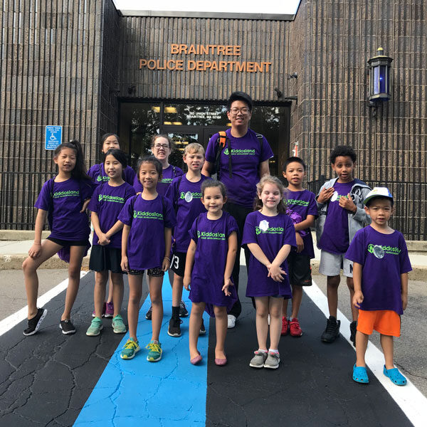 Summer program field trip to the Braintree Police Station