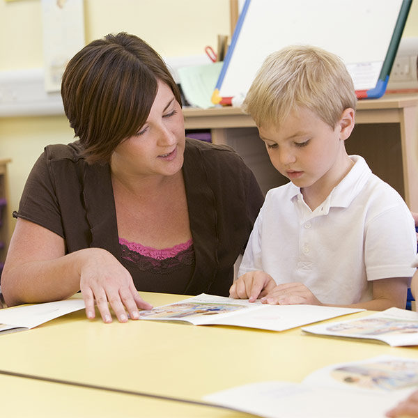 Teaching helping a child learn to read